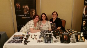 (Me at my booth after the awesome Sara Meadows and Kelly Nagy saved the day and reorganized.)